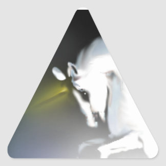 The Unicorn in the Mist Triangle Sticker