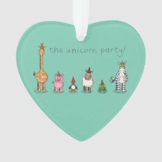 The Unicorn Party Ornament