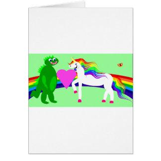 The Unicorn sees the Dinosaur Card