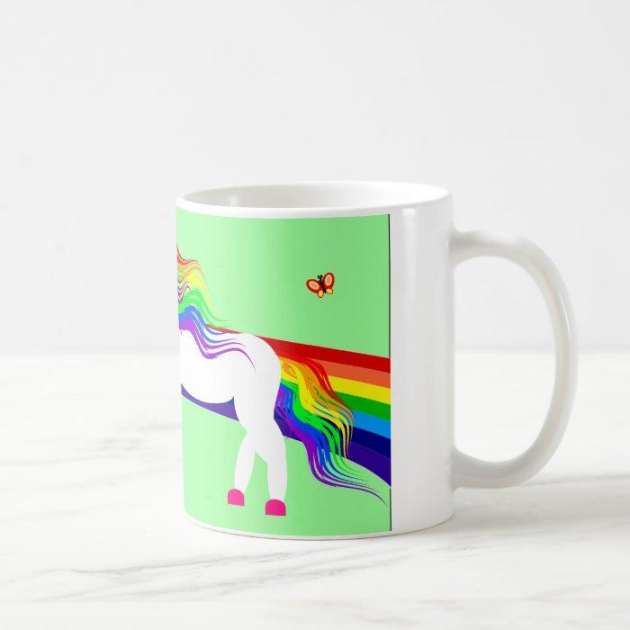 The Unicorn sees the Dinosaur Coffee Mug