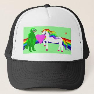 The Unicorn sees the Dinosaur Trucker Hat