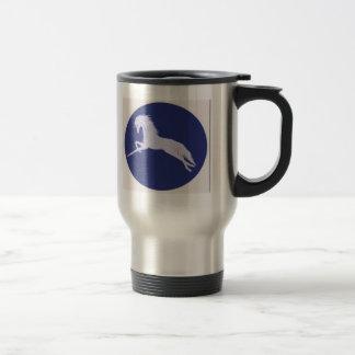 The Unicorn with background round  JPG 001 Travel Mug