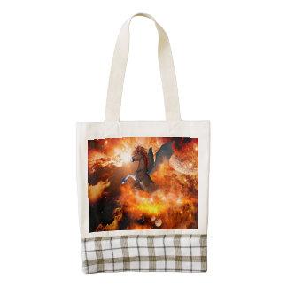 The unicorn zazzle HEART tote bag