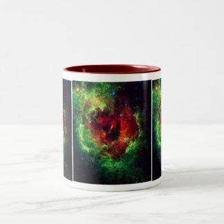 The Unicorns Rose Rosette Nebula Two-Tone Coffee Mug