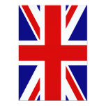 "The Union Jack Flag 5"" X 7"" Invitation Card"