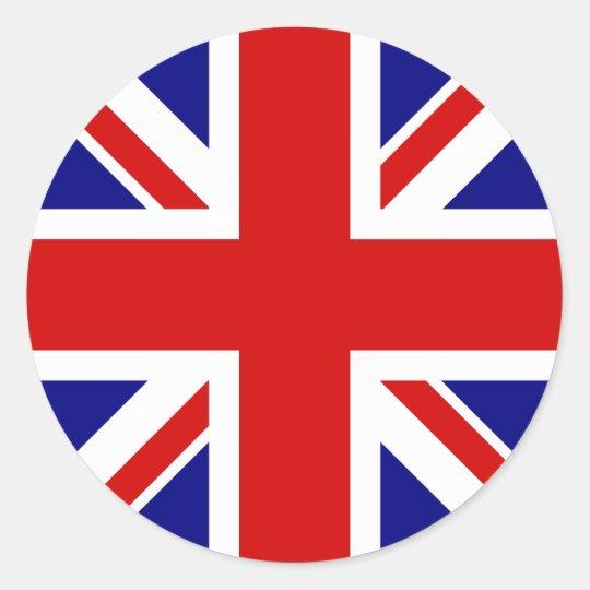 The Union Jack Flag Classic Round Sticker