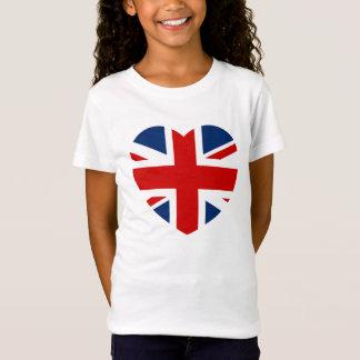 The Union Jack Flag Heart shaped T-Shirt