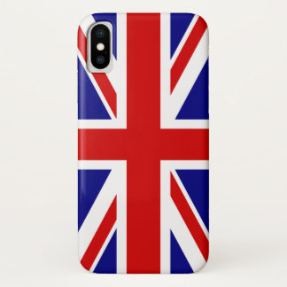 The Union Jack Flag of the UK - United Kingdom iPhone X Case