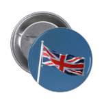 The Union Jack Flag of The United Kingdom Pinback Buttons