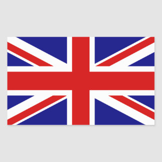 The Union Jack Flag Rectangular Sticker