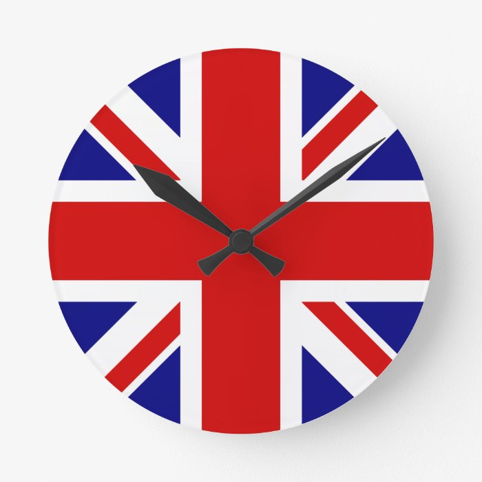 The Union Jack Flag Round Clock