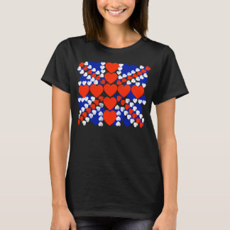 the union jack,i love united kingdom T-Shirt
