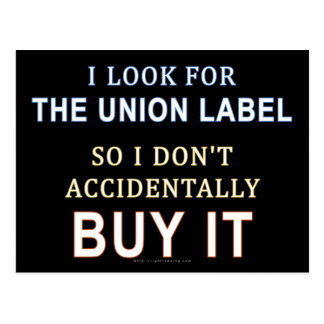 The Union Label Postcard