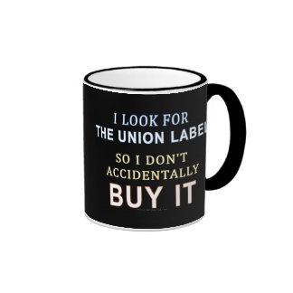 The Union Label Ringer Mug