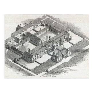 The Union Workhouse to be erected at Postcard