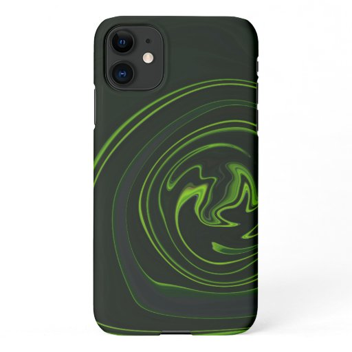 The Unique Black and Green Abstract Stripes iPhone 11 Case