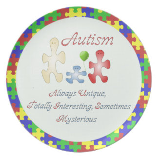 The Unique World of Autism Plate