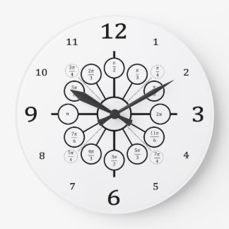 Unit circle wall clocks zazzle the unit circle a lesson on radian measures large clock pronofoot35fo Image collections