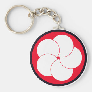 The unit mark of 305SQ (F-15) Basic Round Button Keychain