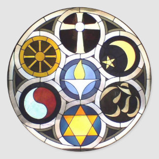The Unitarian Universalist Church Rockford, IL Round Stickers