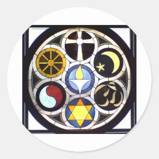 The Unitarian Universalist Church Rockford, IL Round Sticker