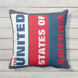 The Unite States of America country patriotic Outdoor Pillow