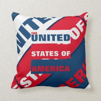 The Unite States of America typography Throw Pillow