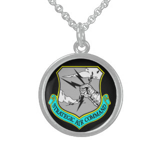 The United States Air Force's 157th Air Refueling Sterling Silver Necklace