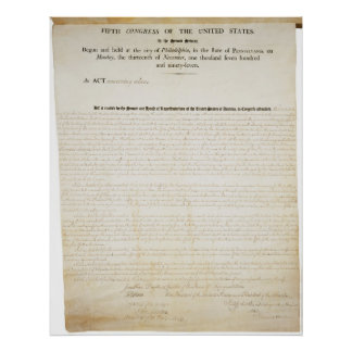 The United States Alien and Sedition Act of 1798 Print