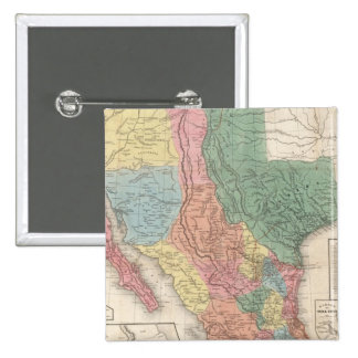 The United States and Mexico 2 Inch Square Button
