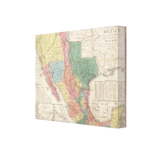 The United States and Mexico Canvas Print