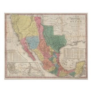 The United States and Mexico Poster