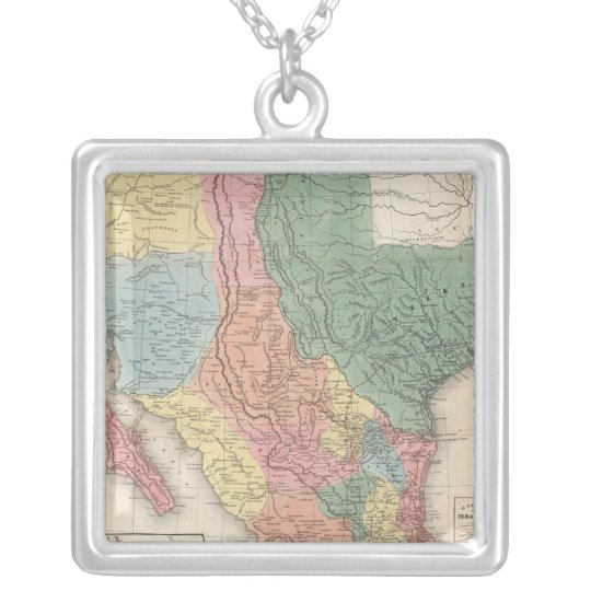 The United States and Mexico Silver Plated Necklace
