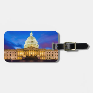 The United States Capitol at blue hour Luggage Tag