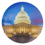 The United States Capitol at blue hour Dinner Plates