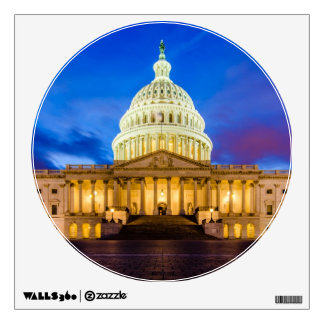 The United States Capitol at blue hour Wall Decal