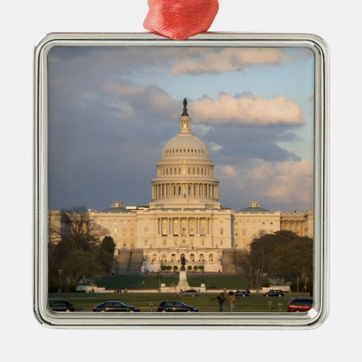 The United States Capitol Building in Christmas Ornament