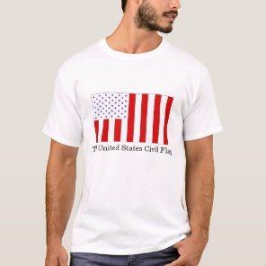 The United States Civil & Military Flags T-Shirt