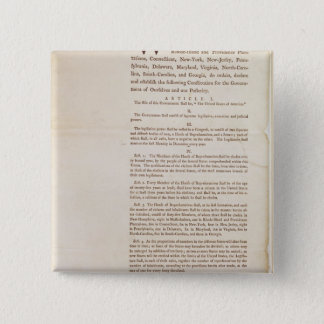 The United States Constitution, 1787 Button