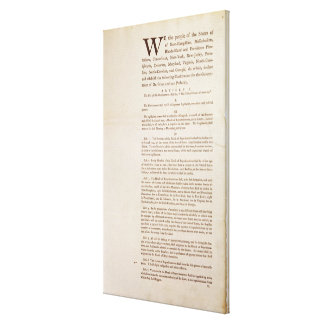 The United States Constitution, 1787 Canvas Print