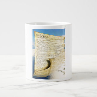 The United States Constitution Above the Earth 20 Oz Large Ceramic Coffee Mug