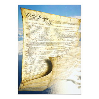 The United States Constitution Above the Earth 3.5x5 Paper Invitation Card