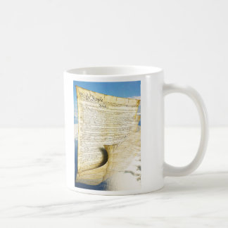 The United States Constitution Above the Earth Classic White Coffee Mug