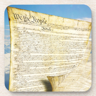 The United States Constitution Above the Earth Drink Coasters