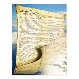 The United States Constitution Above the Earth Postcard