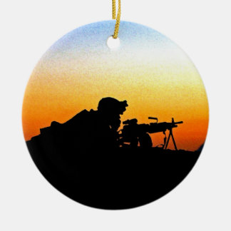 The United States Marine Corps' Hymn Ceramic Ornament