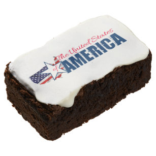 The United States Of America 4th of July Chocolate Brownie