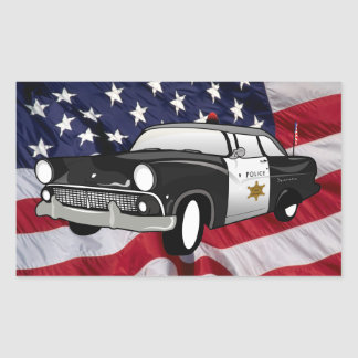 The United States of America 59 State Police Rectangular Sticker