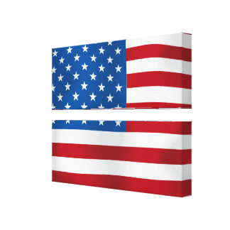 The United States of America Stretched Canvas Print