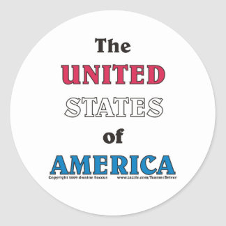 the United States of America Classic Round Sticker